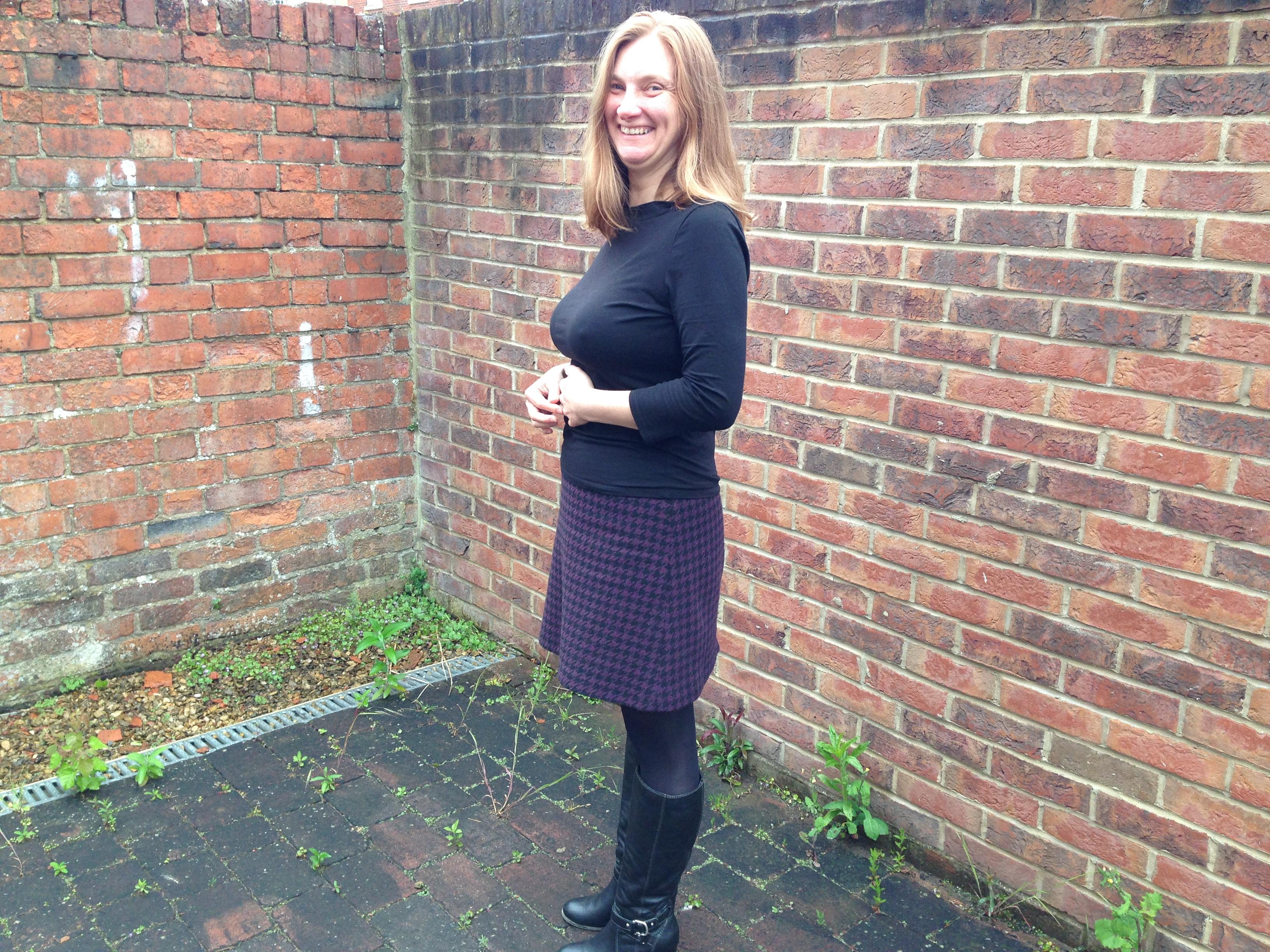 Me in my purple skirt