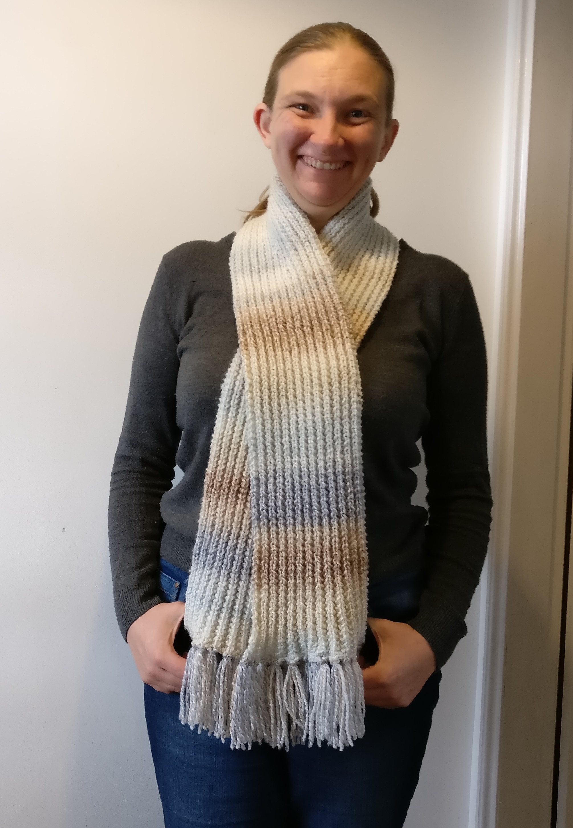 Finished Mistake Rib Scarf