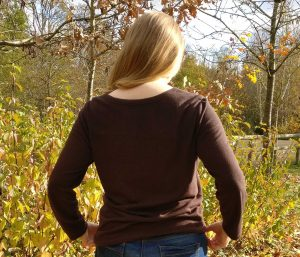 Brown Knit Top, Back View