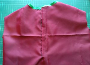 Chinese Dress with Very Roughly Attached Velcro