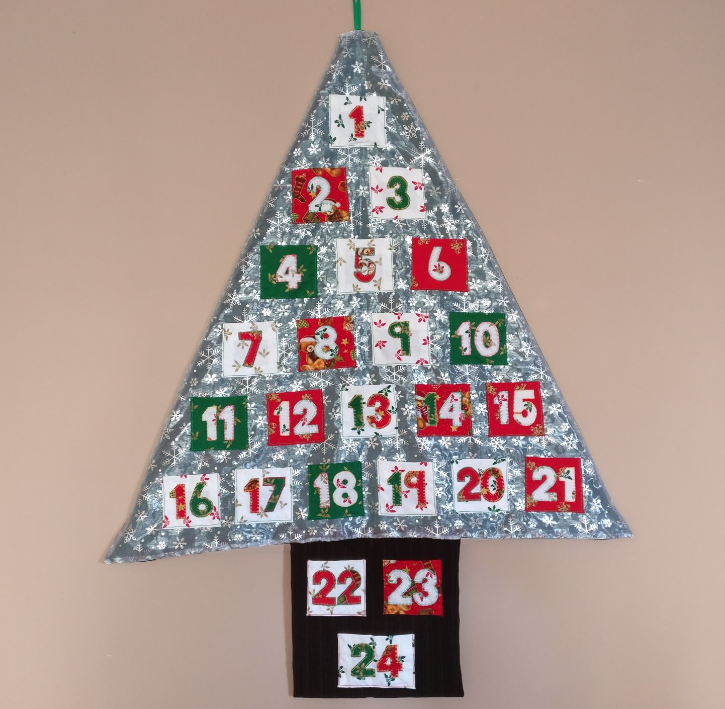 Finished Handmade Fabric Advent Calendar